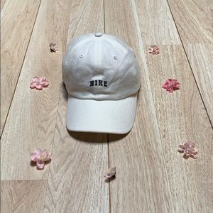 Nike Wool Cream Baseball Hat w Navy Letters